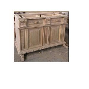 Custom Made Cab 30- Inlaid 3 Door Credenza