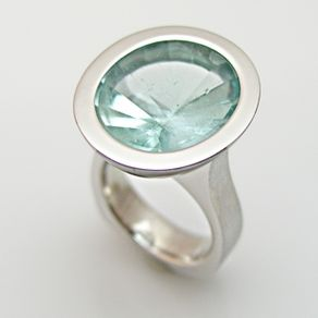 Ring Design Ideas turquoise and onyx ring Aquamarine Oval Sunburst Ring
