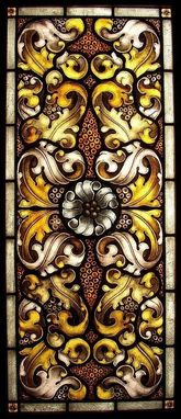 Custom Made Acanthus William Morris Stained Glass