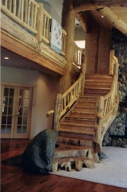 Custom Made Unique rustic custom staircases