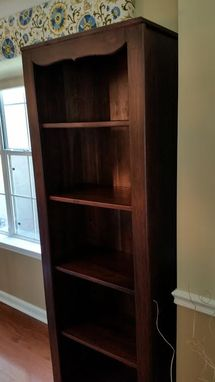 Custom Made Walnut Shelving