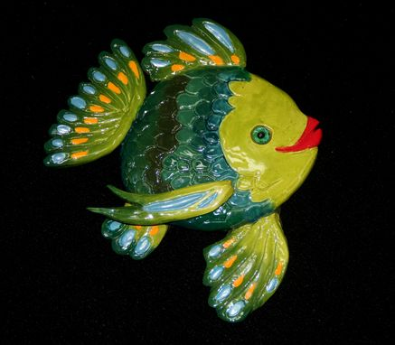 Custom Made Hand Sculpted Ceramic Fish