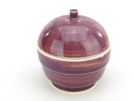Custom Made Berry Purple Lidded Jar Wheel Thrown Ceramic Stoneware Pottery By Gemfox Sra Usa