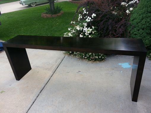 Custom Made Solid Maple Java Sofa Table
