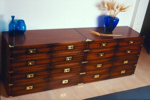 Custom Made English Military Style Drawer Unit