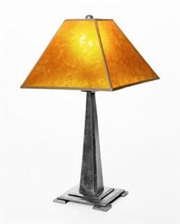 Custom Made Metal Mission Style Table Lamp