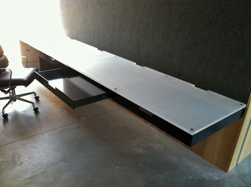 Custom Made Built-In Cantilevered Office Desk