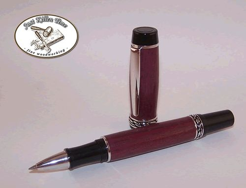 Custom Made Olympian Elite Purple Heart Roller Ball Pen