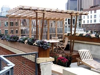 Custom Made Modern Rooftop Pergola