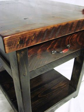 Custom Made End Table W/ Drawer