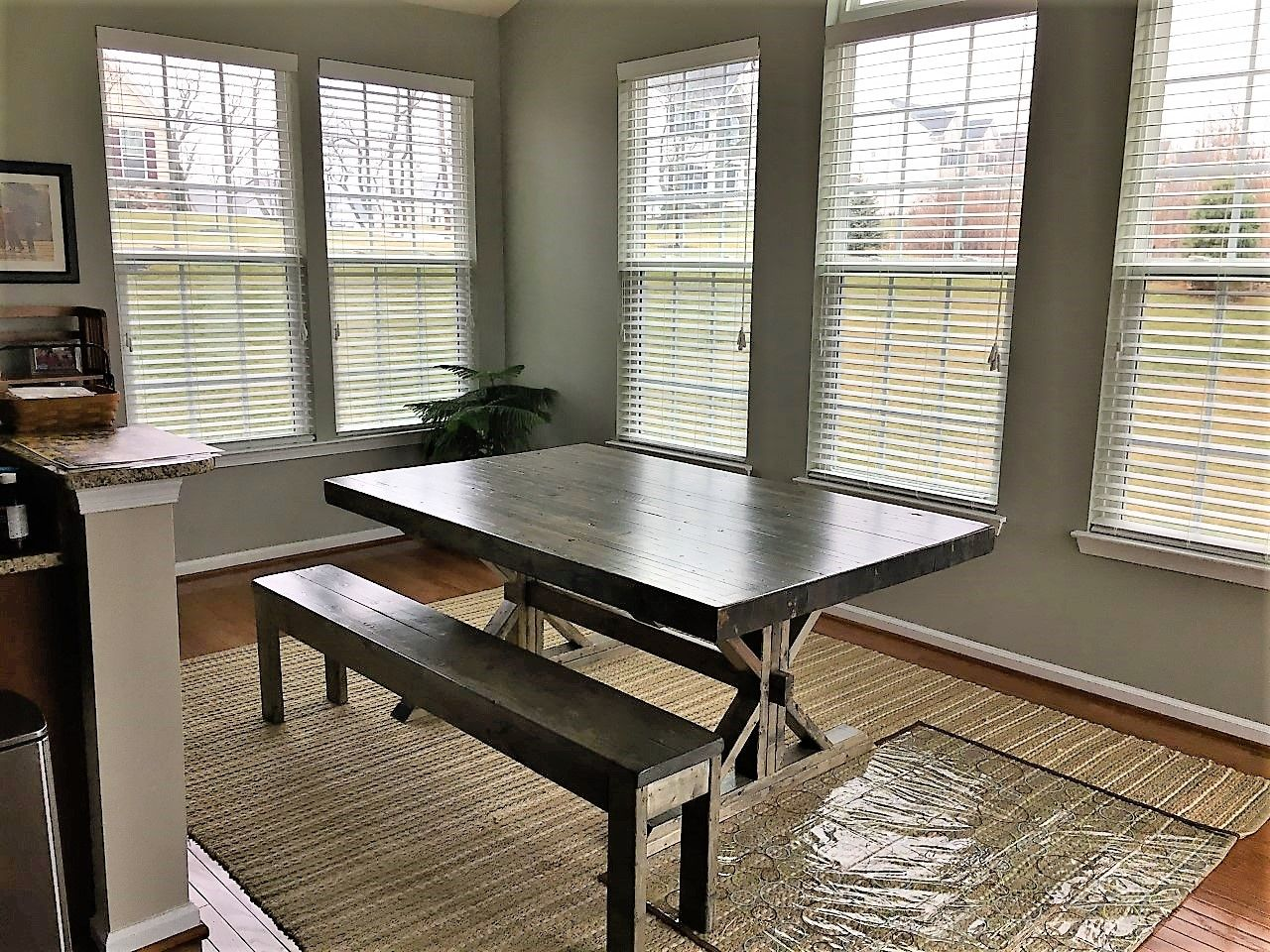 Butcher Block Farm Dining Table Hand Made Rustic Farmhouse Trestle Farm Butcher Block Style Dining