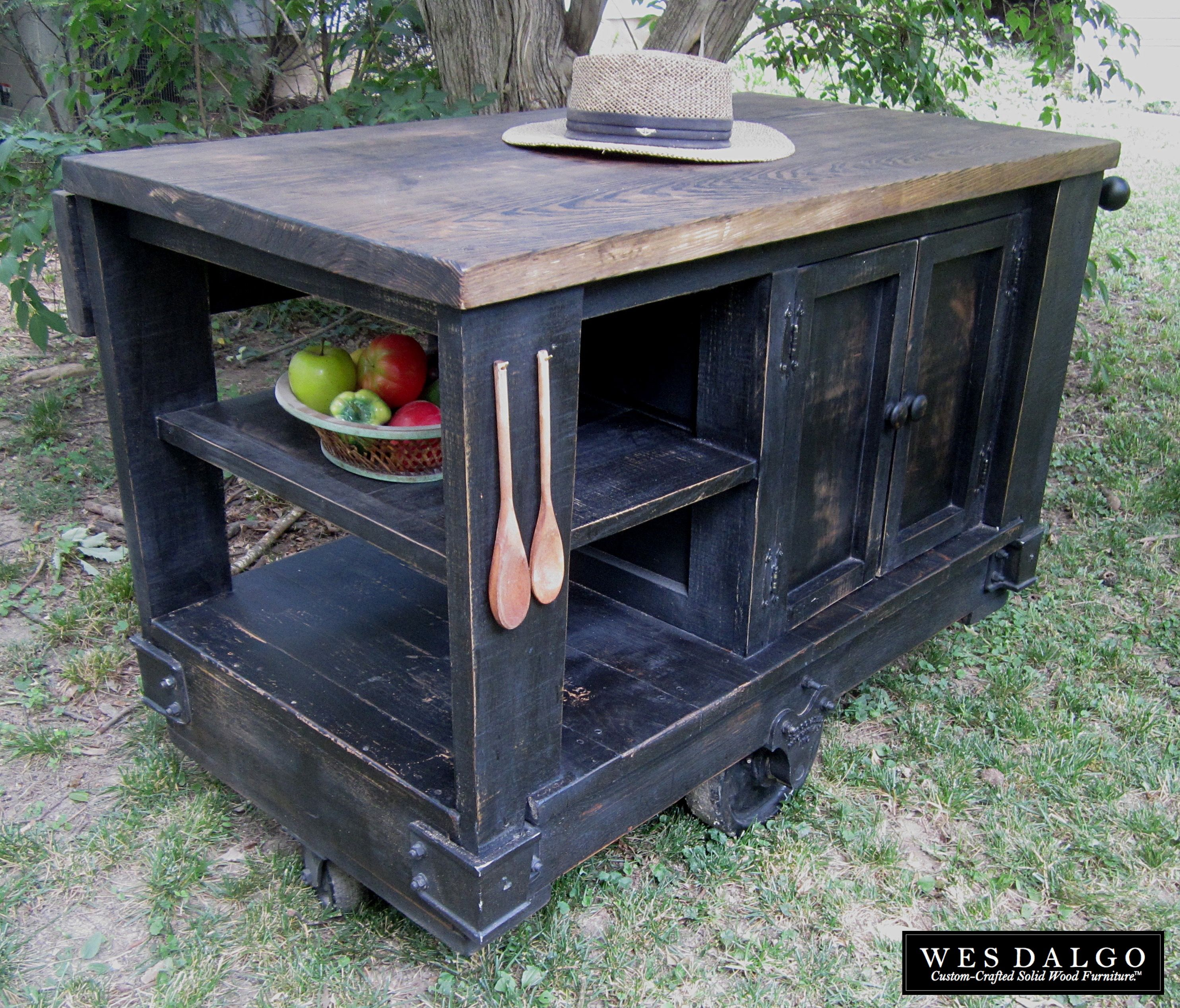 rustic kitchen islands and carts buy a custom distressed black modern rustic kitchen island 25604