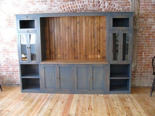Custom Made Full Size Barn Wood Media Cabinet
