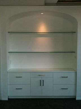 Custom Made Arched Alcove With Built In Filing Cabinet