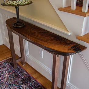 Black Walnut Console Table By Stan Tetrault