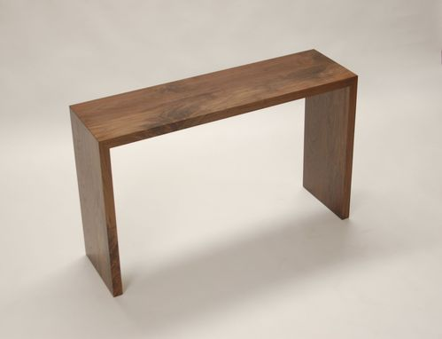 Custom Made Walnut Console Table Or Entryway Table