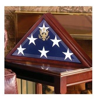 Custom Made Flag Display Cases, Burial Flag Display Case