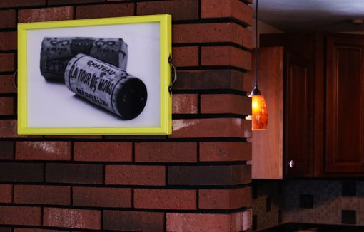 Custom Made Black And White Wine Corks Tray+Wall Art
