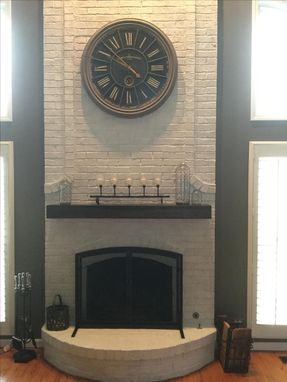 Custom Made Custom Distressed Mantel.
