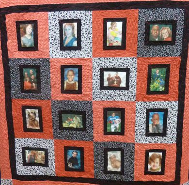 Custom Made Custom Photo Memory Quilt