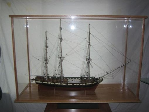 Custom Made Sailing Ship Display Case In Kit Form