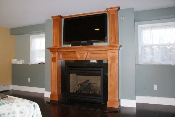 Custom Fireplace Mantel by Cross Cut Construction & Custom ...