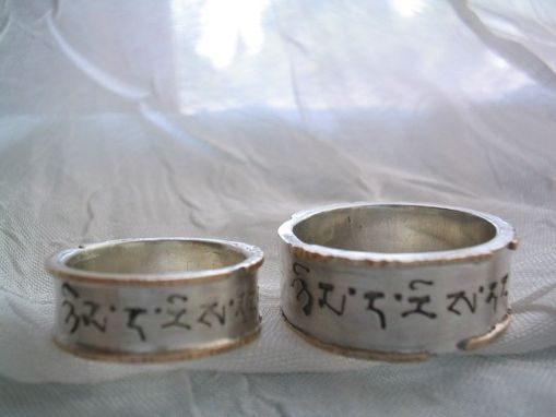 Custom Made Bhutanese Language Wedding Bands