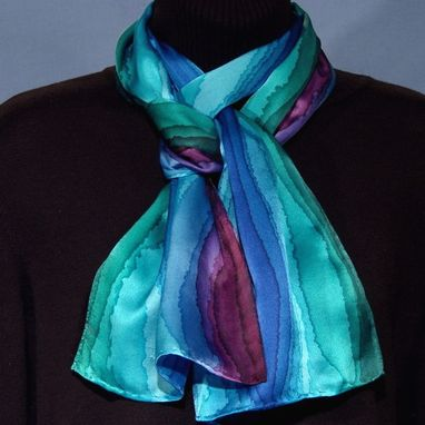 custom designer stripe silk scarf by silk from the hartz