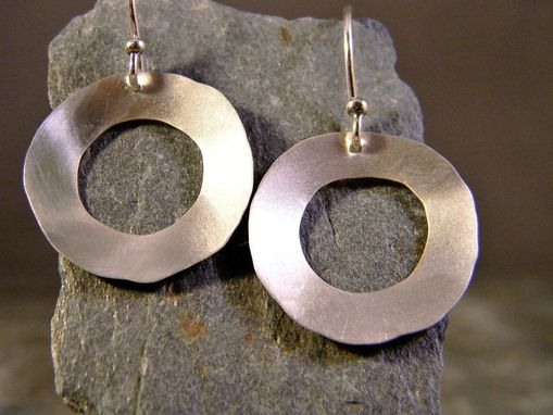 Custom Made Sterling Silver Organic Circle Earrings