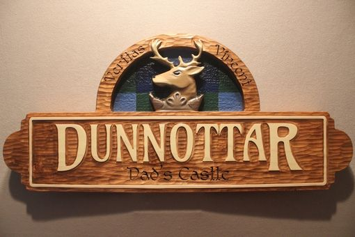 Custom Made Custom Carved Family Crest Signs, Deer Signs, Family Name Signs, Home Signs By Lazy River Studio