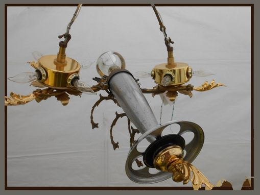 Custom Made 8 Light Steampunk Pendant