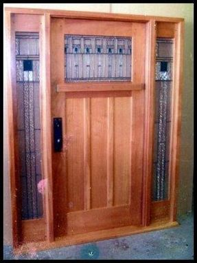 Custom Made Classic Craftsman Entry System.