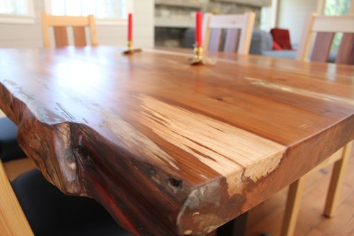 Custom Made Live Edge Slab Dinning Table (Madrone)