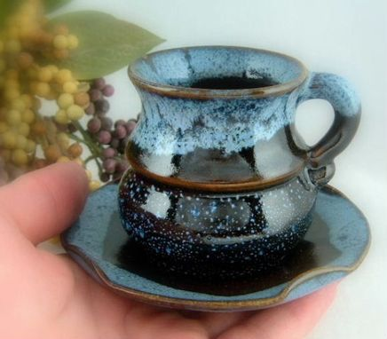 Custom Made Smooth Trophy Style Espresso Cup With Saucer