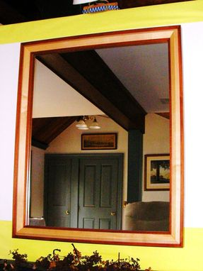 Custom Made Maple And Mahogany Mirror