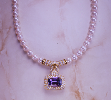 Custom Made Tanzanite And Pearls......