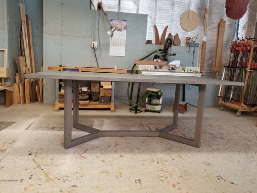 Custom Made Grey Washed Dining Table
