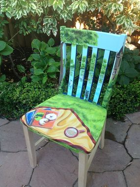 Custom Made Your Life Story Hand Painted On An Accent Chair