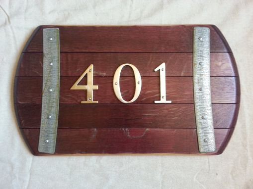 Custom Made Customizable Wine Barrel Address Sign