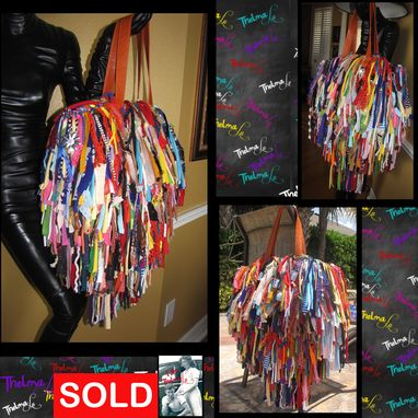 Custom Made Handmade Fringe Handbag,Upcycled Purse,Custom Made,Large Fringe Purse,Mixed Colors
