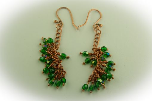 Custom Made 'Copper And Crystal' Earrings