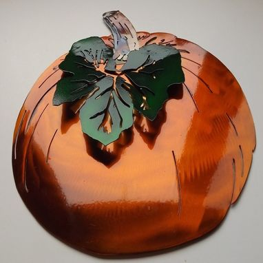 Custom Made Pumpkin Metal Wall Art Sculpture
