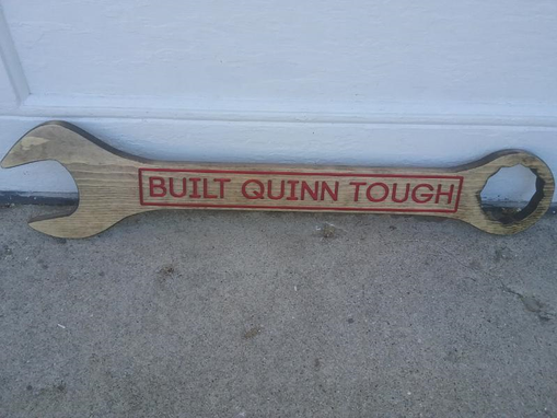 Custom Made Wrench Sign, Custom Sign, Sign For The Guy That Has Everything