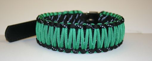"Custom Made 14""-18"" Kelly Green & Reflective Black Collar"