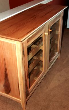 Custom Made 44 Bottle Maple Wine Cabinet