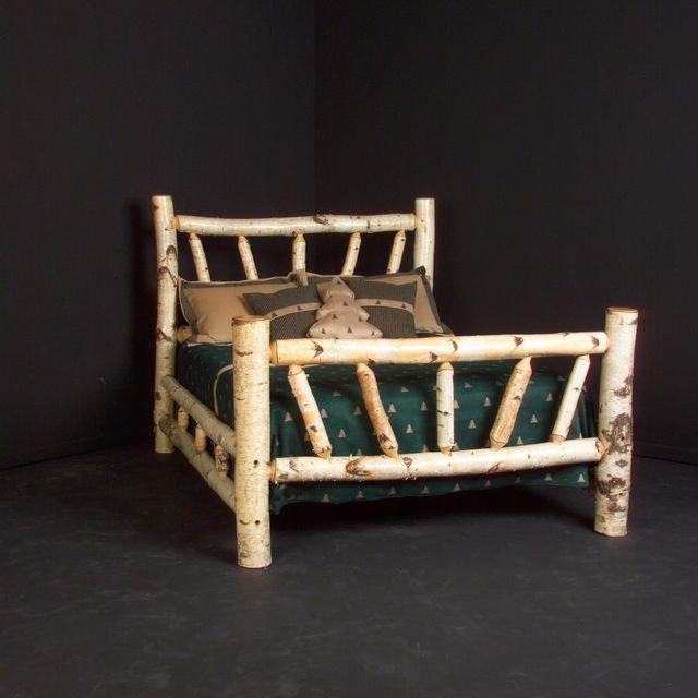 log bedroom set.  Handmade Birch Log Bed Frame by Viking Furniture CustomMade com