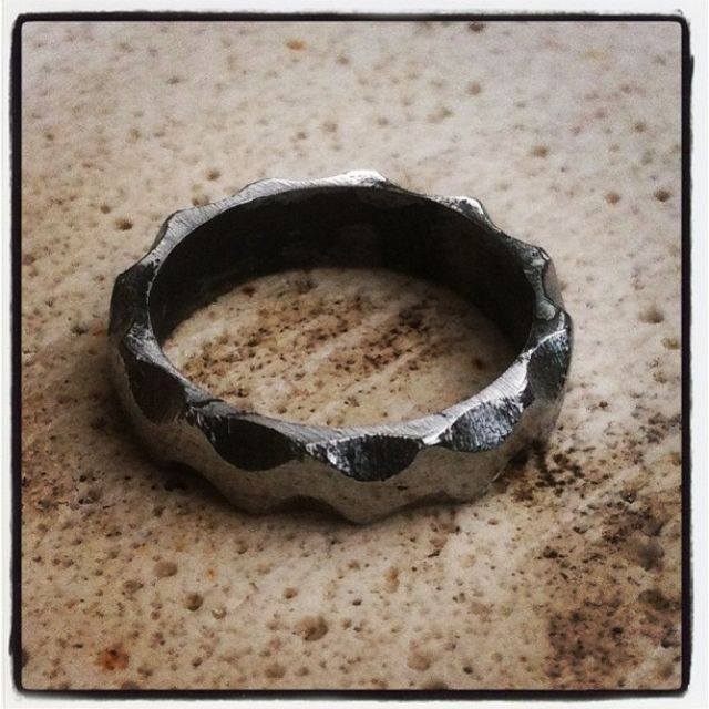 Handmade Engineers Iron Ring By Organic Iron Concepts Custommadecom