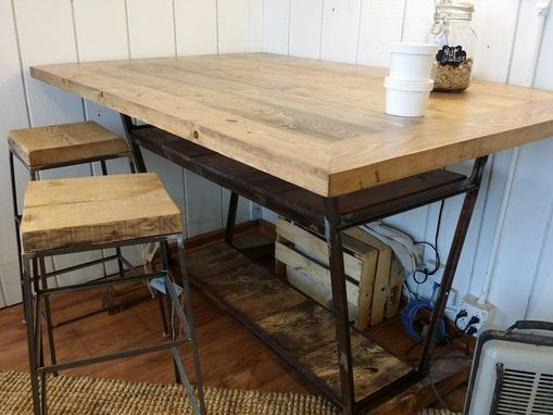 Custom Made Reclaimed A Frame Hightop Desk