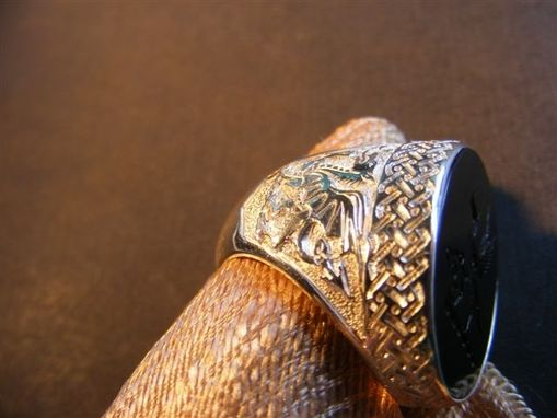 Custom Made Family Crest Celtic Ring