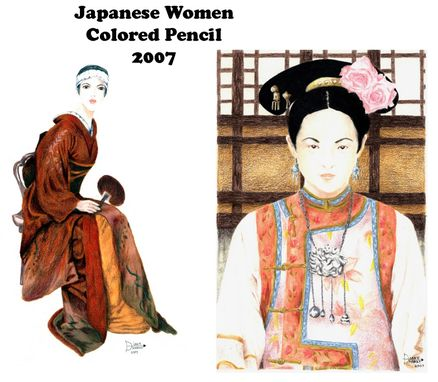 Custom Made Japanese Women / Colored Pencil